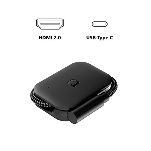 nonda USB-C to HDMI Adapter 4K@60Hz UHD, Foldable USB 3.1 Type C (Thunderbolt 3) to HDMI Dongle for 2017/2016 Macbook...