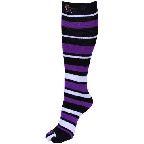 90632235a Amazon.com   LSU Tigers Ladies Black-Purple Striped Knee-High Toe Socks    Football Socks   Sports   Outdoors