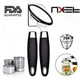 Can Opener NXET Ergonomic Grip Stainless Steel Can Opener with FDA Certification