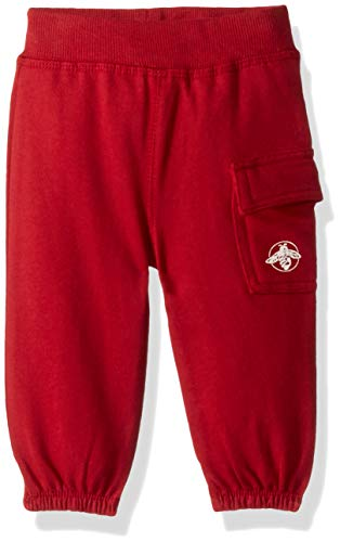 Burt's Bees Baby Baby Sweatpants, Knit Jogger Pants, 100% Organic Cotton, Cranberry Cargo, 18 Months