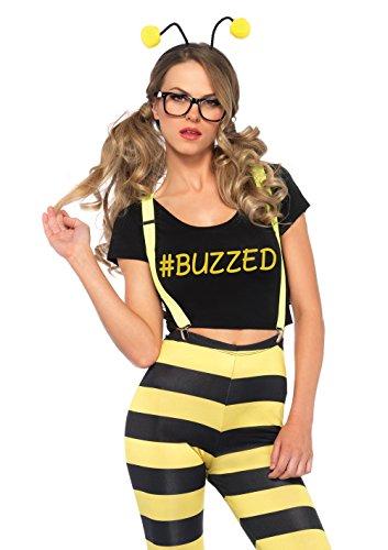 Leg Avenue 5 PC. Buzzed Bee (X-Small) Black/Yellow -