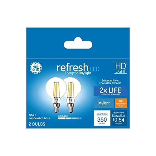GE Refresh 40ワット EQ デイライト 調光機能付き電球 (2個パック) B07P9G3NXF