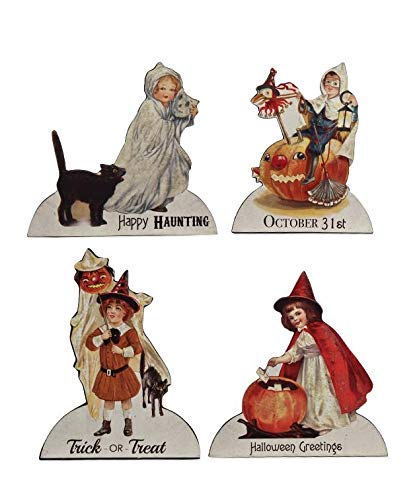 Bethany Lowe Halloween Trick or Treat Child 5in Dummy Board Set of 4 -