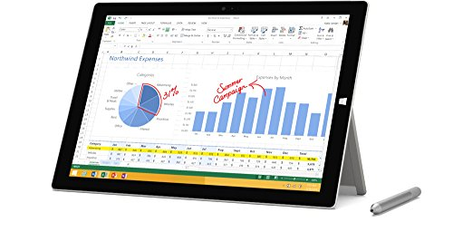 Microsoft Surface Pro 3 MQ2-00001 12-Inch Full HD 128 GB Storage Multi-Touch Tablet (Silver) by Microsoft