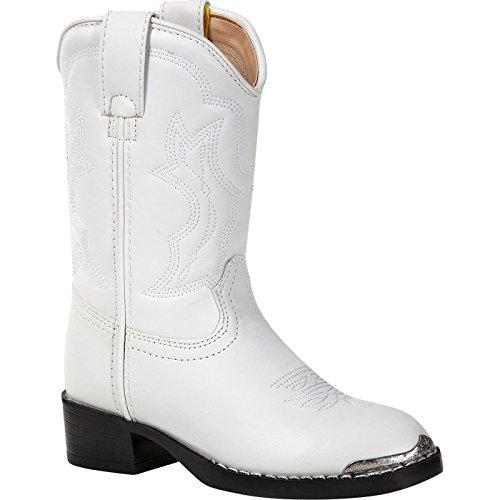 Durango Kids BT851 Lil' 8 Inch,White 'N Chrome,2 M US Little - Boots Inch 8 Kids