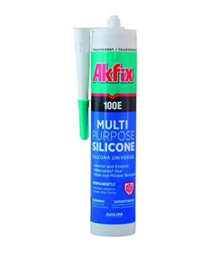 Akfix 100E Multipurpose Silicone Sealant, White, 10.5 fl oz (10.5 Ounce Liquid)