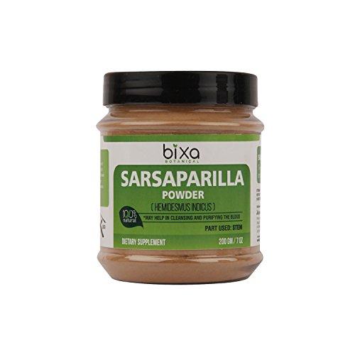 SALSEPAREILLE POUDRE (HEMIDESMUS INDICUS) – 200 g (7 Oz) de Naturel purificateur de Sang et de refroidissement de l'agent | aide à réduire l'hyperacidité & gastrique problème, Anti-Oxydant, supplément à base de plantes.