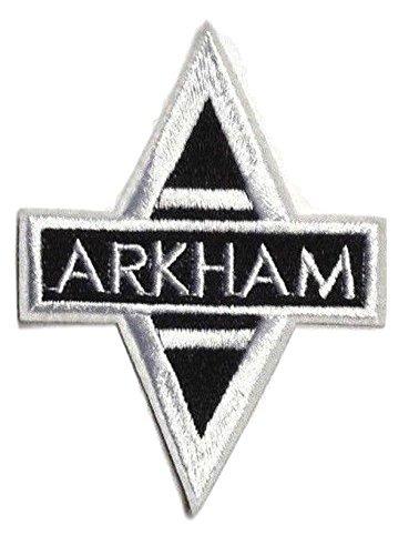 Batman ARKHAM ASSYLUM Cutout Logo Crest Embroidered Patch]()