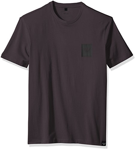 Armani Cotton Jeans - ARMANI JEANS Men's Pima Cotton Jersey with Patch Logo, Dark Grey, Medium