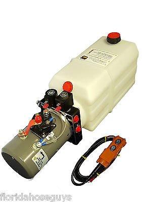 KTI Hydraulic Power Unit Double Acting 12v 8qt tank for dump (Hydraulic Unit)