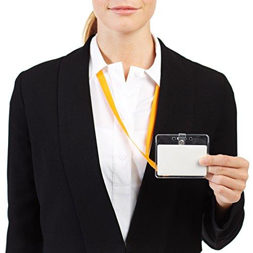 AmazonBasics Clear Badge Holder - Horizontal (Pack of 50) Photo #3