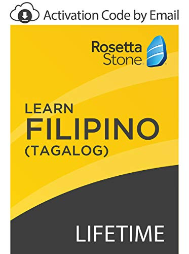 Software : Rosetta Stone: Learn Filipino (Tagalog) with Lifetime Access on iOS, Android, PC, and Mac - mobile & online access [PC/Mac Online Code]