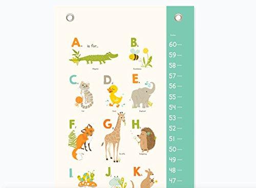 Sea Urchin Studio Animals Growth Chart, Alphabet ABC Nursery Wall Decor, Kids Growth Chart, Wall Growth Chart, Wall Height Chart, Kids Height Chart