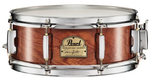 Pearl OH1350140 Omar Hakim Signature Drum, 6 ply African Mahogany, (Stainless Steel Shell Snare Drum)