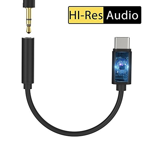 Monoy Google Pixel 2 Type C to 3.5 mm Audio Speaker Headphone Stereo Microphone Female Adapter USB C Connector for Google Pixel 2 XL,HTC U12,HTC U11,HTC U Ultra,Essential PH-1 (Black USB C Adaptor)