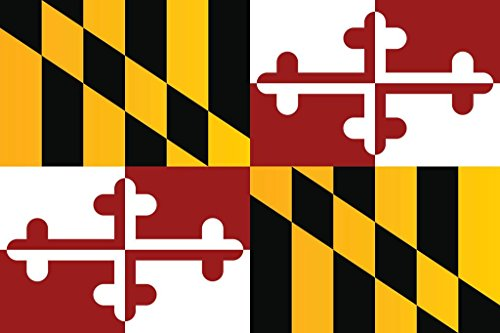 Maryland State Flag Poster 24x36 inch
