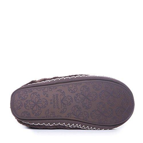 En forma de cubo para Athletics - Marilyn - Classic botas de pelo sintético de ante para patucos - Chocolate