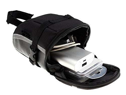 Bicycle Saddle Bag, MYQUEEN Strap On Bike Seat Bag for BMX Giant Mountain Road Bikes Storage Gear Tool Accessories