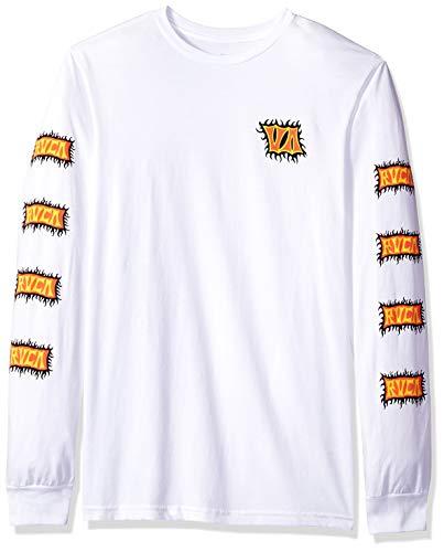 RVCA Mens Big Boys Crawling Long Sleeve Crew Neck T-Shirt