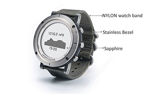 Boblov North Edge Reloj Inteligente de Hombre Resistente al Agua Sport Smart Watch con Brújula Barómetro Termómetro Alarma: Amazon.es: Electrónica