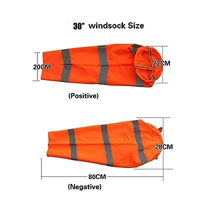 Qishi Airport Windsocks Rip-Stop Outdoor Rainbow Wind Measurement Sock Bag with Reflective Belt(30