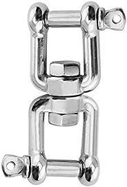 Abimars Swivel Ring Snap Rolling Shackle Device - Marine Grade Stainless Steel 316 Anchor Swivel Chain Swivel