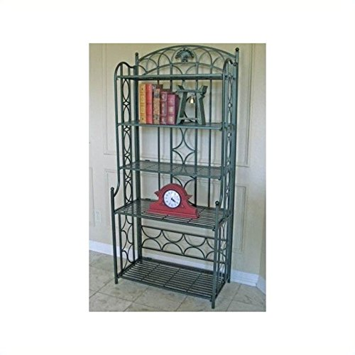 international-caravan-mandalay-iron-5-tier-bakers-rack-in-verdi-gris