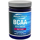 Cheap BodyTech BCAA (Branched Chain Amino Acid) Fruit Punch Optimal 2:1:1 Ratio Supports Muscle Recovery Endurance (11.5 Ounce Powder)