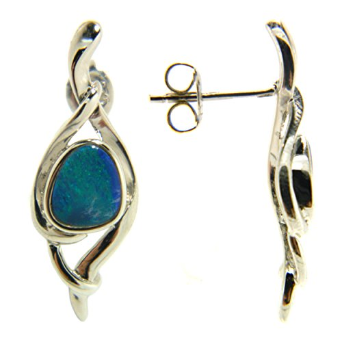 Boulder Opal Swirl Drop Fashion Earrings Jewelry for Women (Boulder Opal Earrings)
