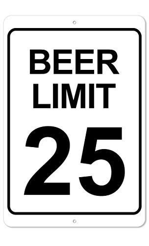 The King Kush Beer Limit Sign | 8 x 12 Aluminum Indoor/Outdoor Funny Sign