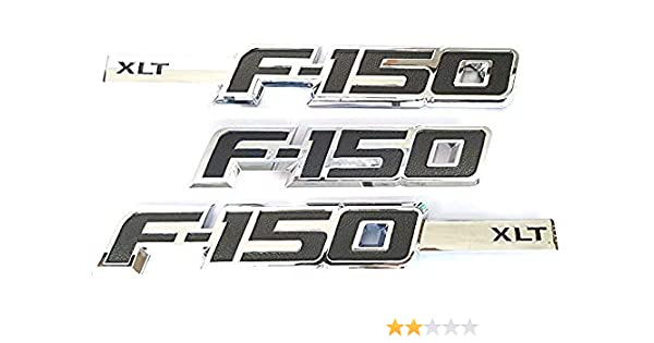 Zcardon 3pcs F-150 XLT Emblems Drivers Side Rear Tailgate F 150 XLT Emblem 3D Nameplate Replacement for F150 Red Aruisi