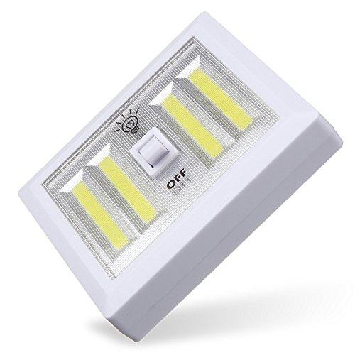 4 Light Fluorescent Wall (Lights - Powered 4 Cob Led Light Wall Switch Self Stick Closet 6000k Bright - Throw Brightness Replacement Fluorescent Swop Feathery Transposition Lightness Alternate Luminescent - 1PCs)