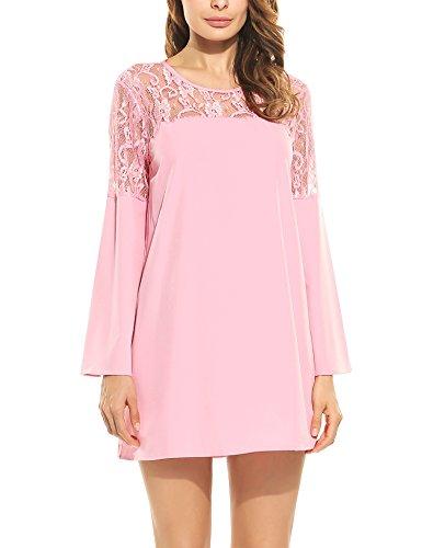 群れあからさま発火するBeyove DRESS レディース US サイズ: S カラー: ピンク