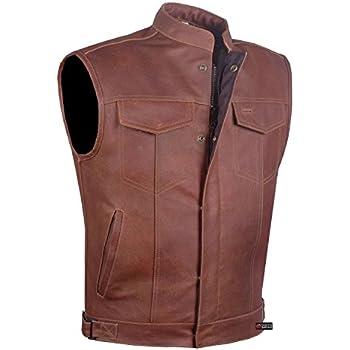 Amazon Com Xelement B282 Men S Distressed Brown Retro 10 Pocket