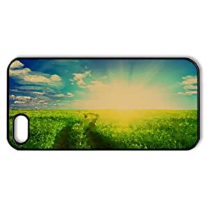 Green Grass Field Watercolor style Cover iPhone 5 and 5S Case (Summer Watercolor style Cover iPhone 5 and 5S Case)