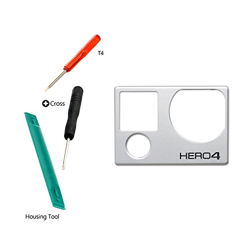 Easy To Shop Front Cover Faceplate Frame Housing Repair Parts Fix for GoPro Hero 4 Silver/Black
