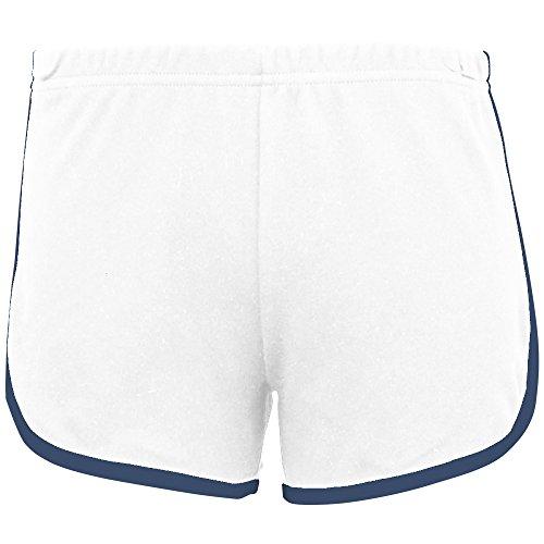 Femme Short bleu De Apparel Sport Marine Blanc Coton En American 4HZUYOq