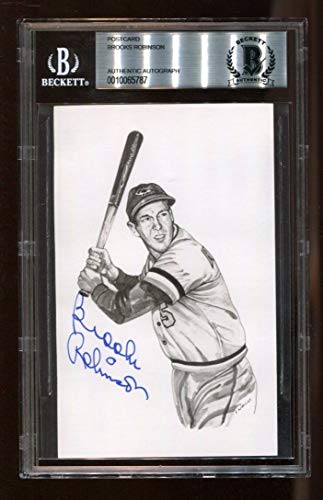 Brooks Robinson Autographed Signed Postcard 4x6 Autographed Signed Orioles Beckett Authentic 5787
