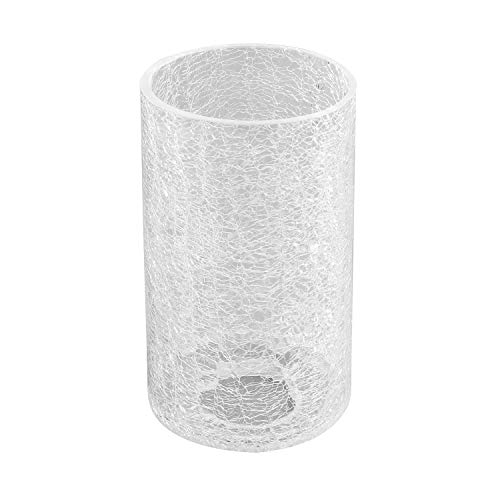 Eumyviv Clear Glass Lamp Shade with Crack Finish, Fixture Replacement Glass Globe or Lampshade with 1-5/8-Inch Fitter(A00012)
