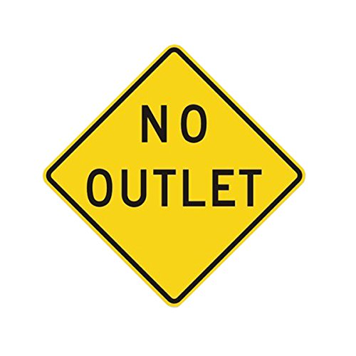 Metal traffic Sign: No Outlet, - Traffic Signs Metal