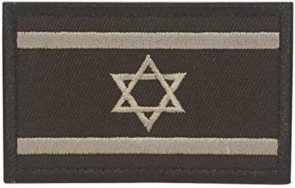 Cobra Tactical Solutions Bandera Israel Israeli Negra Parche Bordado Táctico Moral Militar con Cinta adherente de Airsoft Paintball para Ropa de Mochila Táctica: Amazon.es: Hogar
