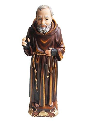 Statue Supplier Saint Pio of Pietrelcina Sculpture Padre Pio Estatua(12 inch)