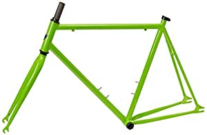 vilano chromoly fixed gear track road bike frame and fork set green 54cm