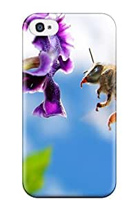 Dana Diedrich Wallace's Shop High Quality Shock Absorbing Case For Iphone 4/4s-bee On Flower Widescreen 2529986K95115028