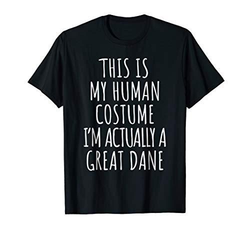 Great Dane Costume Shirt Funny Halloween