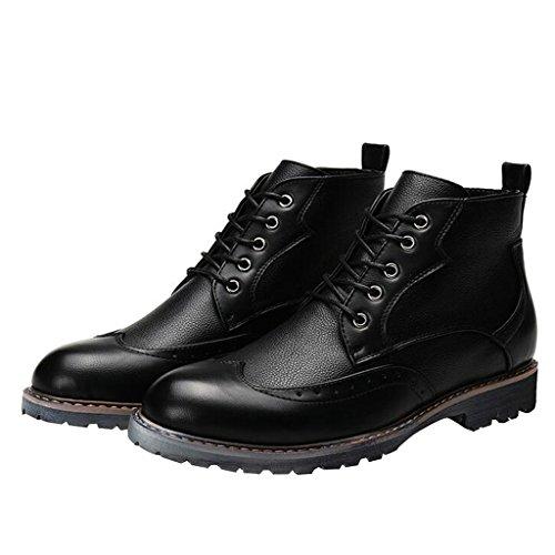 Kjære Tiden Menn Snøre På Lappeteppe Ankel Boots Black