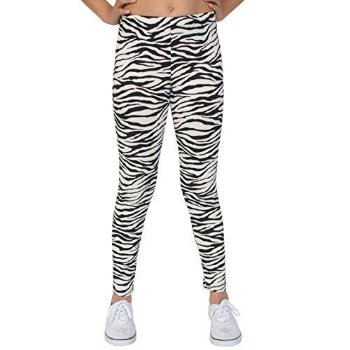 Stretch is Comfort Girl's Leggings Zebra Print Medium]()