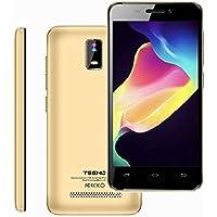 """Smartphone 4G Pas Cher 1Go RAM 8Go ROM 4.0"""" HD IPS Téléphone Portable Débloqué TEENO(Android Double SIM Double Caméras Quad Core) (Or)"""