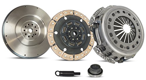 Clutch With Flywheel Kit Works With FORD F250 F350 F59 F SUPER DUTY Special 1994-1998 7.3L V8 DIESEL OHV Turbocharged (Replaces stock clutch and 11