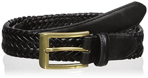 U.S. Polo Assn. Men's Men's Leather Belt, 30mm Wide Braided Stretch Leather, black, 36 (Black Braided Leather Belt)